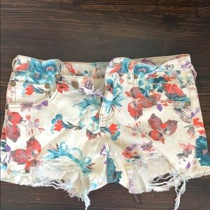 Free people floral shorts